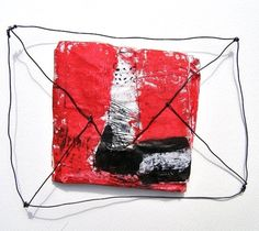 Miroslava Rakovic is a Serbian artist who's work is abstract and delicious. These are her wonderful letter assemblages made from . Wire Drawing, Art Friend, Call Art, Japanese Prints, Wire Art, Illustration Art, Illustrations, Photo Art, Arts And Crafts