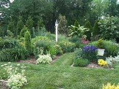 images of standing bird houses in gardens | perennial garden bird house