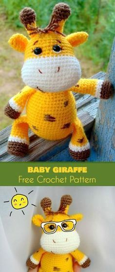Amigurumi Baby Giraffe [Free Crochet Pattern] Toys and Softies Amigurumi giraffes are some of the most popular crochet patterns. I'm not surprised - they have yellow or other eye-catching hues and they are Crochet Giraffe Pattern, Crochet Amigurumi Free Patterns, Diy Crochet, Crochet Dolls, Crochet Baby, Crochet Eyes, Softies, Popular Crochet, Stuffed Animal Patterns