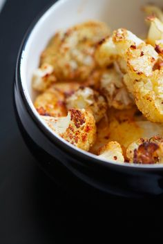 Garlic Roasted Cauliflower. Nutrition: 68 calories, 3 g protein and plenty of anti-cancer phytochemicals.