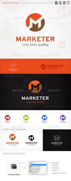Marketer Letter M - Logo Design Template Vector #logotype Download it here: http://graphicriver.net/item/marketer-letter-m-logo-template/7392727?s_rank=226?ref=nexion
