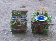 Fairy  house Kitchen sink and stove set