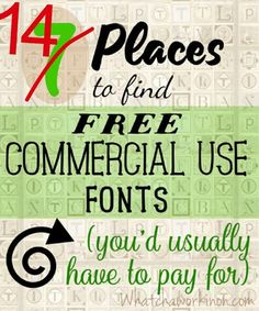 14 places to find free commercial use fonts.