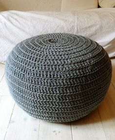 pop a poof. grey ottoman -- (No pattern) Want to find a pattern to make ottomans like this