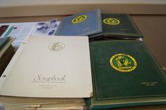 jpg Juanita Hood's many historical club scrapbooks.