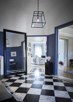 Entréhallen gestaltades efter inspiration från London Arts Club där Nathalie är medlem.