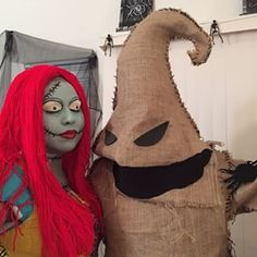 This Sally and Oogie Boogie combo. | 25 Chilling Tim Burton Costumes You Should Try This Halloween