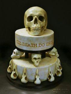 Till death wedding cake