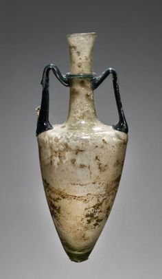 The Ancient Way of Life — ~ Pointed Amphoriskos. Culture: Roman Place of. Antique Glass Bottles, Antique Glassware, Art Romain, Roman Artifacts, Ancient Artefacts, Classical Antiquity, Glass Ceramic, Ancient Rome, Roman Empire