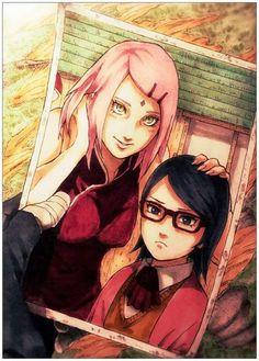 Sasuke's Photo of Sakura and Sarada  All His Family ❤️❤️❤️