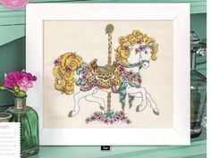 Carousel Horse The World of Cross Stitching Issue 250 January 2017 Zinio Saved
