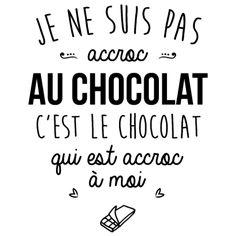personnaliser tee shirt Accroc au chocolat