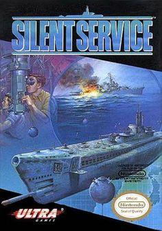 Silent Service - Label or Box Art games Used Video Games, Just Video, Classic Video Games, Retro Video Games, Video Game Art, Retro Games, Pac Man, Pearl Harbor, Games Box