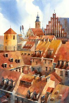 Tytus Brzozowski watercolor