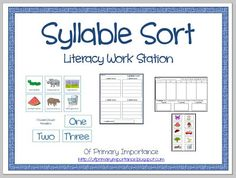 I³: Imagine. Inspire. Innovate.: Syllable Sorting Freebie