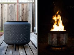 excellente idée! recyclage tambour de machine a laver en brasero!