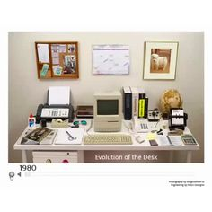 a team at the harvard innovation lab has encapsulated this history of technology, as it relates to the office, in a video, 'the evolution of the desk'. The Office, Office Desk, Best Cell Phone Coverage, Innovation Lab, The Computer, Yellow Pages, Work Desk, Day Work, Desktop Computers