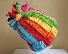 CROCHET PATTERN - Tutti Frutti - A striped corkscrew hat in 6 sizes (Infant - Adult S) - Instant PDF Download on Etsy, $5.50