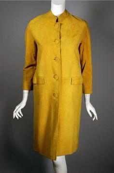 SOLD Gold suede mod 60s coat, size XS.