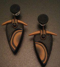 Серьги из полимерной глины от Chris Carlson  Polymer clay earrings by Chris Carlson