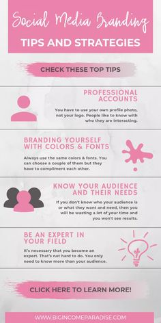 Top 35 Social Media Branding Tips And Strategies - Big Income Paradise