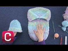 Loom Knitting: Make a Baby Cocoon with Michele Muska, Creativebug, My Crafts and DIY Projects knitting projects baby Round Loom Knitting, Loom Knitting Stitches, Knifty Knitter, Loom Knitting Projects, Arm Knitting, Knitting Ideas, Knitting Tutorials, Knitting Machine, Baby Cocoon Pattern