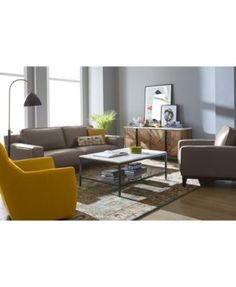 Ticino Leather Sofa, Only at Macy's $1,259.00 This handsome sofa recalls classic mid-century minimalist designs with its clean lines while plush foam filled cushions and smooth leather surfaces offer unparalleled comfort that matches its appealing style.