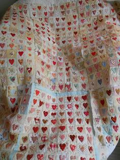 "Supergoof Quilts: ""COOL"" Heart Quilt Pattern, Scrap Quilt Patterns, Applique Quilts, Scrappy Quilts, Baby Quilts, Heart Quilts, Liberty Quilt, Bubble Quilt, Dear Jane Quilt"