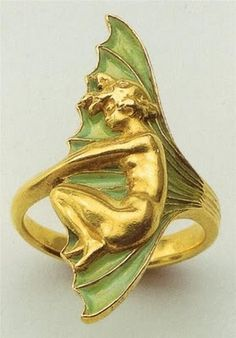 Unique - Art nouveau ring by René Lalique