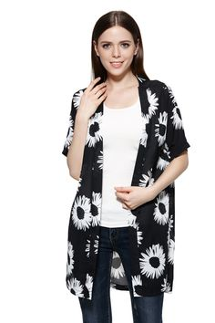 Find More Basic Jackets Information about 2015 Women Long Outwear For Summer Travelling Chiffon Floral Short Sleeve Open Stitch Women Summer Style Coat WWK228,High Quality outwear women,China outwear clothes Suppliers, Cheap outwear jacket from Charm keep on Aliexpress.com