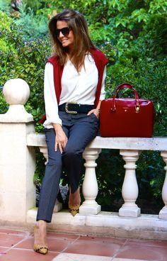 Fashion and Style Blog / Blog de Moda . Post: My new BARADA bag / Mi nuevo bolso de BARADA .More pictures on/ Más fotos en : http://www.ohmylooks.com/?p=23998 .Llevo/I wear: Pants/Pantalones : Zara (New collection) ; Belt/Cinturón : Uterqüe (old) ; Bag/Bolso : BARADA ; Sunglasses / Gafas de sol : Mango ; Shoes/Zapatos : Pilar Burgos Limited edition.