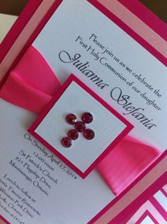 Baptism/First Communion Invitation by InvitationNTutuBouti on Etsy, $5.00