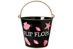Flip Flop Pail, Black on OneKingsLane.com