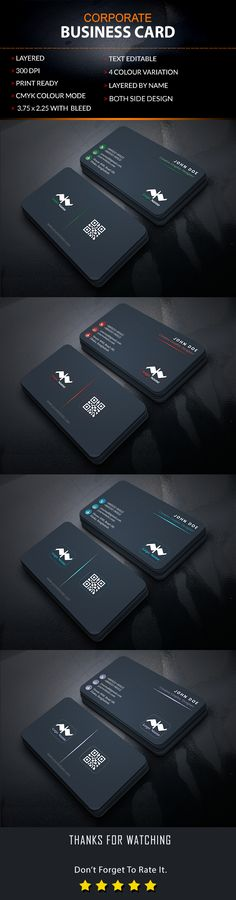My Latest Project Corporate Business Card Design Dont Forget To Share Your Feedback