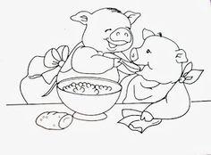 desenho de porquinhos para pintar