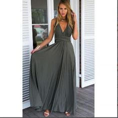 a7052cfe52 Sexy Maxi Dress Red Beach Long Dress Multiway Bridesmaids Convertible Wrap  Party Dresses Robe