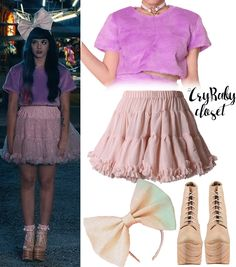 Welcome to Cry Baby Closet, the first and best source for Melanie Martinez's style. I do exacts and inspireds, i do not take requests. Mobile Navigation Link Run by Joanna. Melanie Martinez Outfits, Melanie Martinez Style, Crybaby Melanie Martinez, Melanie Martinez Carousel, Melanie Martinez Dollhouse, Pastel Goth Outfits, Chic Outfits, Fashion Outfits, Melanie Martinez Halloween Costume