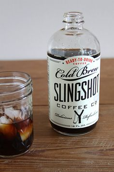Slingshot iced coffee packaging