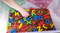 Munchkin and Bean: Foam Letter Sensory Bin