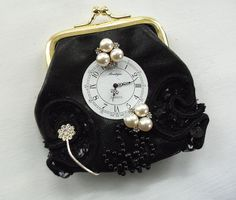 Hey, I found this really awesome Etsy listing at https://www.etsy.com/listing/86869450/change-purse-steampunk-watch-face