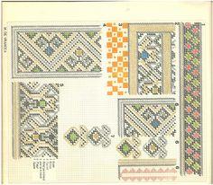 """""""Ii şi cămăşi româneşti"""", de Aurelia Doagă Embroidery Patterns, Cross Stitch Patterns, Needlework, Traditional, Quilts, Blanket, Romania, Hats, Colors"""