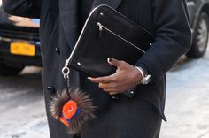 Best Street Style Shoes and Bags NY Fashion Week Fall 2014 ----  Get Up Close With Street Style's Best Accessories >>> Perfect Fashion Week accessories include a Fendi charm and sleek clutch.