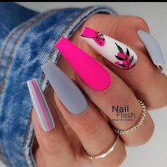 Glam Nails, Hot Nails, Fancy Nails, Bling Nails, Beauty Nails, Fabulous Nails, Gorgeous Nails, Pretty Nails, Summer Acrylic Nails