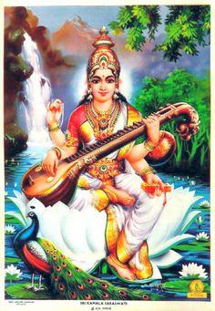 Prints, Posters & Paintings, Hinduism, Religion & Spirituality, Collectibles Page 31 Durga Ji, Saraswati Goddess, Kali Goddess, Goddess Art, Shiva Shakti, Saraswati Painting, Saraswathi Pooja, Hanuman Ji Wallpapers, Ganesh Idol