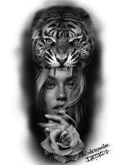 2pac Tattoos, Leg Tattoos, Sleeve Tattoos, Tiger Tattoo Design, Tattoo Designs, Knee Tattoo, Arm Tattoo, Tattoo Studio, Face Tattoos For Women