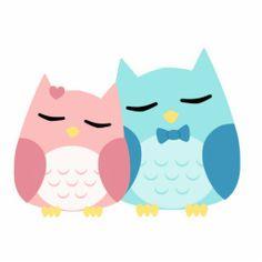Cute Cartoon Owls | cute cartoon vector owl couple photo cut outs from Zazzle.com