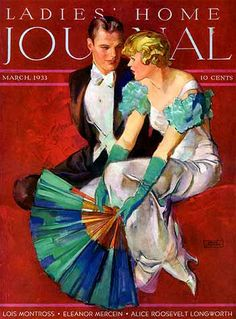 """""""Ladies' Home Journal"""" March 1933 - Cover art by Leydecker"""
