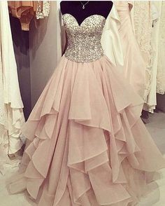 Strapless Pink Ball Gowns Prom Dresses 5ff6cf2b5352