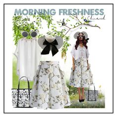 """Morning Garden"" by ul-inn ❤ liked on Polyvore featuring Chicwish, chicwish and bikiniluxe"
