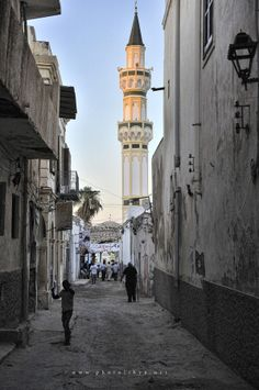The streets of the old city , Tripoli , Libya